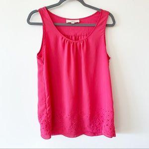 Ann Taylor Loft  Pink Sleeveless Shell Tank S